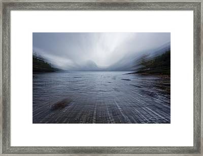 Moving Into The Lake Framed Print