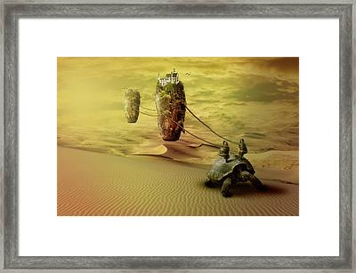 Framed Print featuring the digital art Moving On by Nathan Wright