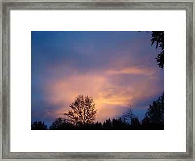 Moving Sunset Framed Print