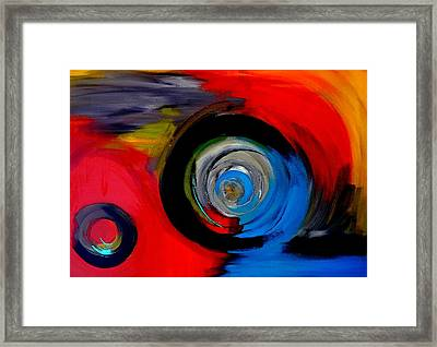 Moving Through Time And Space Framed Print