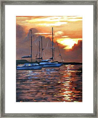 Moving Toward The Light Framed Print by Anthony Falbo