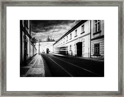 Street Tram Framed Print