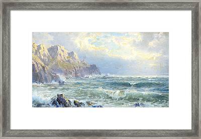 Moye Point Guernsey Channel Islands Framed Print
