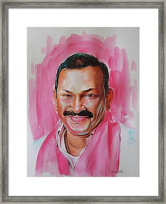 Mp Dayaker Anna Framed Print