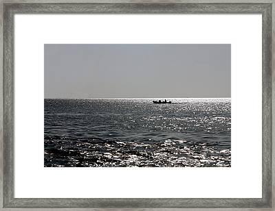 Mprints - Crystal Blue  Framed Print