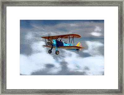 Mprints - Into The Wild Blue Yonder Framed Print