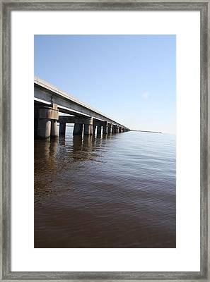 Mprints - Railroad Bridge Framed Print by M  Stuart