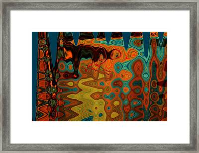 Mprints - Up And Down And All Around Framed Print