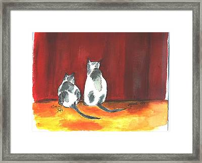 Mprints - Seeing Red Framed Print by M  Stuart