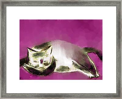 Mprints - The Color Purple Framed Print