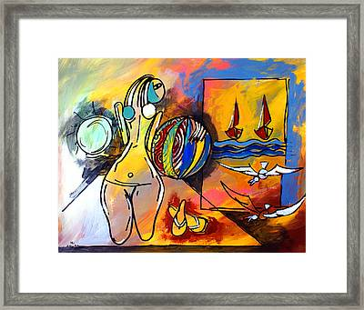 Mr Ameeba 6 Framed Print