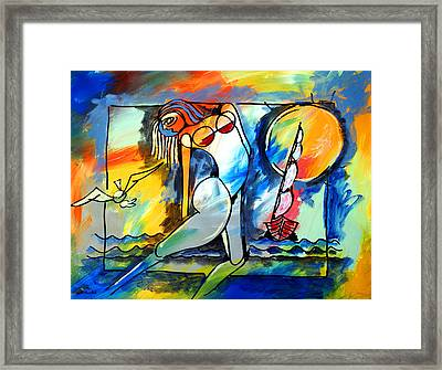 Mr Ameeba 8 Framed Print