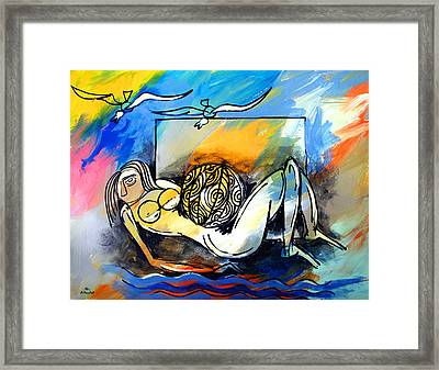 Mr Ameeba 9 Framed Print