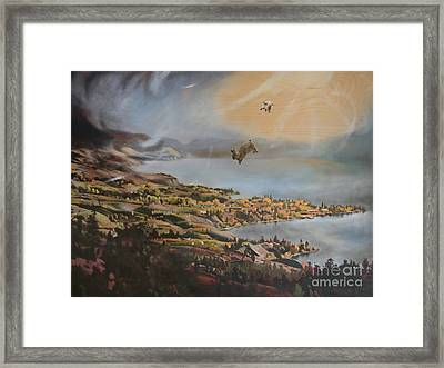 Mr And Mrs Bunbuns Go To Heaven But Then Decide To Move Back To Naramata Framed Print by Jan Little