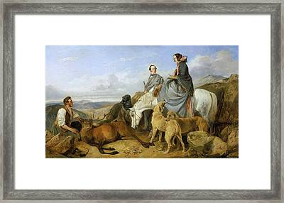 Mr. And Mrs. John Naylor With A Keeper And A Dead Stag Framed Print by Celestial Images