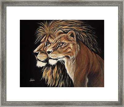 His And Her Majesty Framed Print