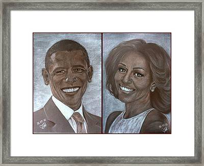 Mr And Mrs Obama Framed Print
