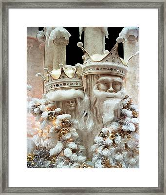 Mr And Mrs Winter Framed Print by Barry Shaffer