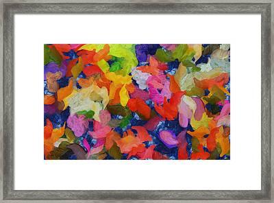 Mr Autumn Meets  Lady Spring - Painting - Wet Paint  Framed Print by Sir Josef - Social Critic -  Maha Art