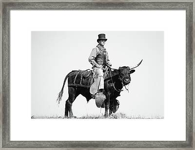 Mr Badoochie And Crab Framed Print by Kate Wiltshire