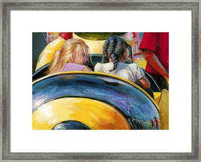 Mr. Bee Takes Some Friends For A Ride Framed Print