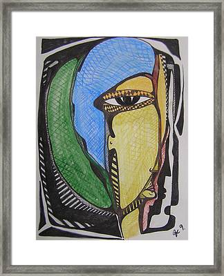 Mr. Blue And Green Hair Framed Print by Jimmy King