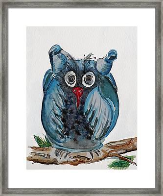 Mr. Blue Owl Framed Print