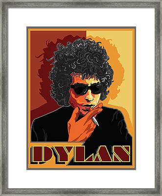 Mr Bob Dylan Framed Print by Larry Butterworth