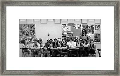 Mr Clay's Ap English Class - Cropped Framed Print