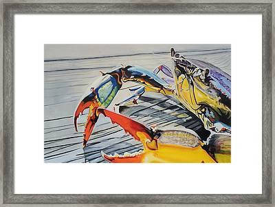 Mr. Crab Framed Print by Robert Lewis