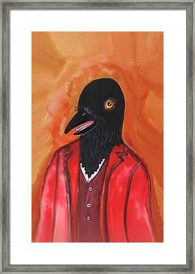 Mr. Crow's Portrait Framed Print