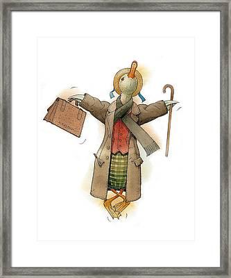 Mr Duck Framed Print by Kestutis Kasparavicius