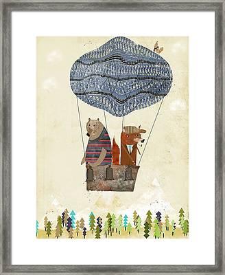 Mr Fox And Bears Adventure  Framed Print