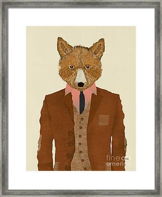 Framed Print featuring the painting Mr Fox by Bri B