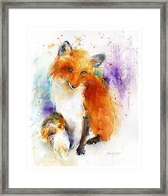 Mr. Fox Framed Print by Christy Lemp
