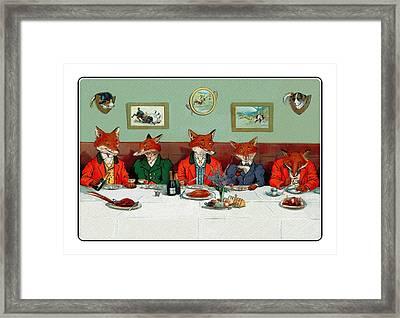 Mr Fox's Hunt Breakfast On Xmas Day Framed Print