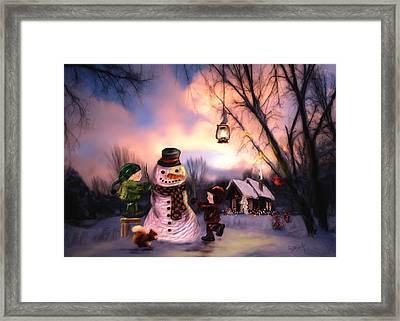 Mr. Frosty Framed Print