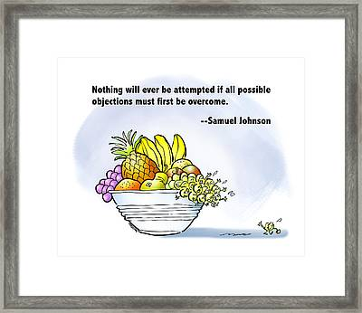 Mr. Grape And Dr. Johnson Framed Print