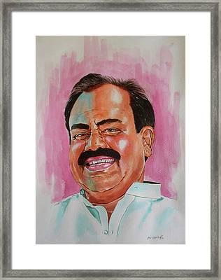 Mr. Madhusudhana Chari Framed Print by Venkat Meruvu