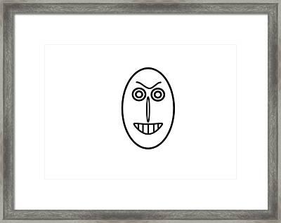 Mr Mf Has A False Smile Framed Print