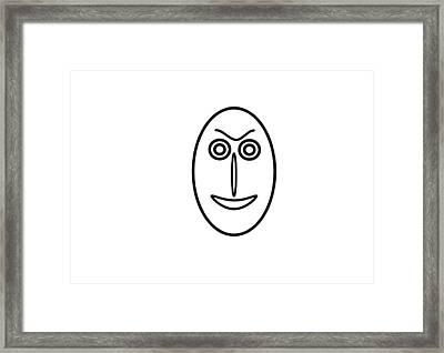 Mr Mf Is A Little Bit Friendly  Framed Print