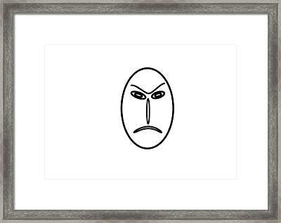 Mr Mf Is An Angry Asian  Framed Print