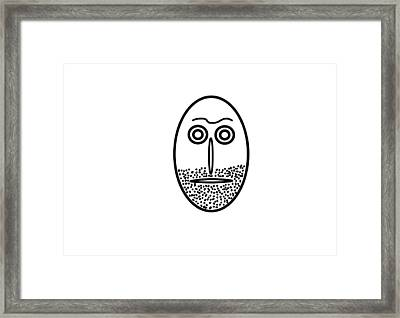 Mr. Mf Is An Unshaved Macho Framed Print