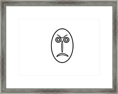 Mr Mf Is Angry Framed Print