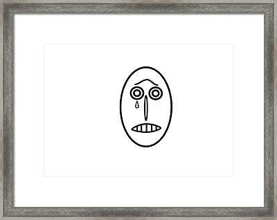 Mr Mf Is Sad  Framed Print
