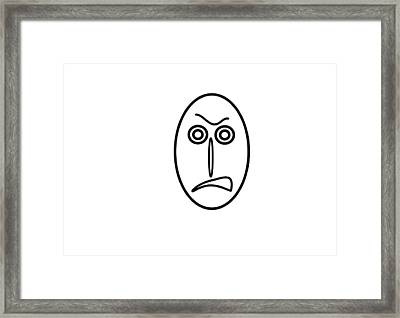 Mr Mf Is Very Angry Framed Print