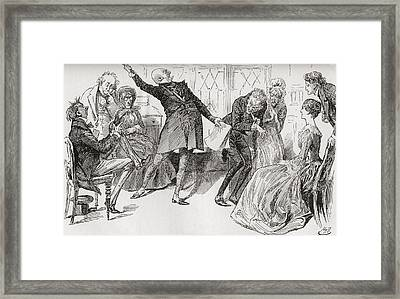 Mr. Micawber Achieves The Downfall Framed Print by Vintage Design Pics