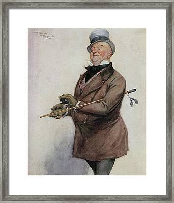 Mr Micawber From The Painting By Frank Framed Print by Vintage Design Pics