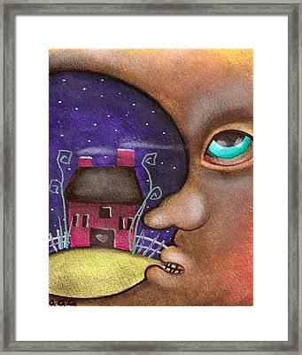 Mr. Moon Framed Print by  Abril Andrade Griffith