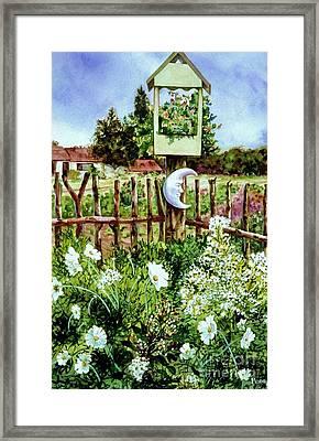 Mr Moon's Garden Framed Print